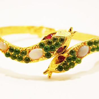 Vintage Swoboda Snake Clamper Bracelet - Costume Jewelry