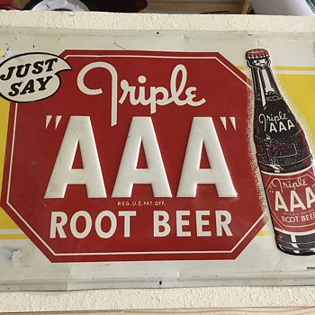 Triple AAA root beer sign  - Signs