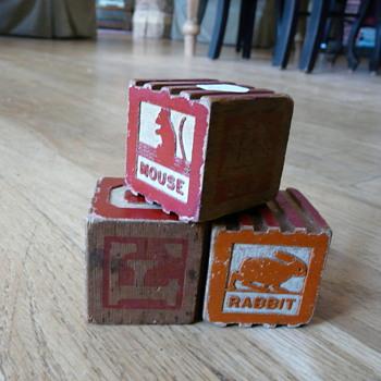 Antique childrens blocks