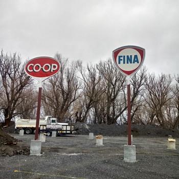 CO-OP Porcelain Gas Sign - Signs