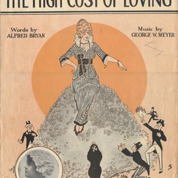 "Sheet Music 1914, Honey Was""High Maintenance""!!(To Many!!) - Music Memorabilia"
