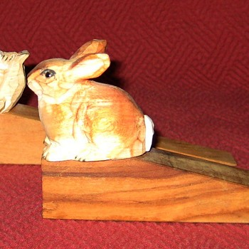 Hand Carved Wooden Doorstops - Tools and Hardware