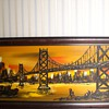 Mid Century Modern City Scape Painting