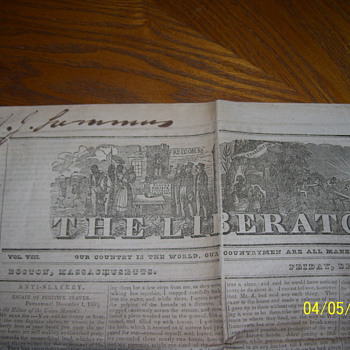 1837  1838 liberator news paper  - Paper