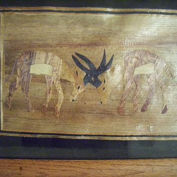 PAPYRUS ART ? ? ?/ marquetry /egyptian ? - Folk Art