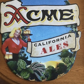 ACME California Ale Metal Sign - Breweriana