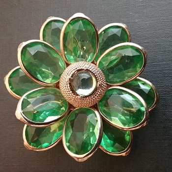 Corocraft by Coro flower brooch  - Costume Jewelry