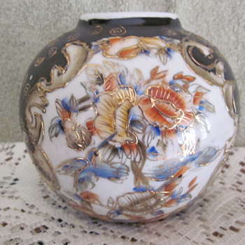 Antique Satsuma Ginger jar with Hand Painted Gold Markings - Asian
