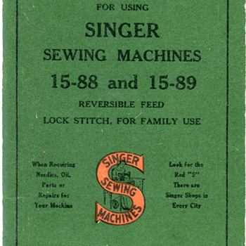 Vintage Singer Sewing Machine Manual... - Sewing
