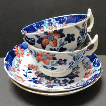 Antique Cup and Saucer - H&B - rd 135869 - China and Dinnerware