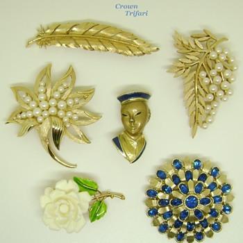 Trifari brooches - Costume Jewelry