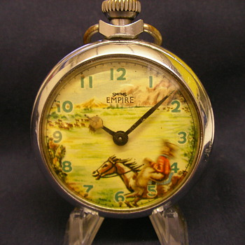 Animated Cowboy Ranger Pocket Watch by Smith's - Pocket Watches