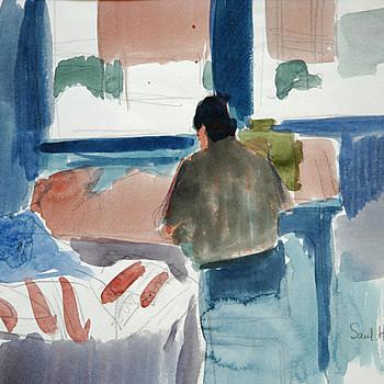 Saul Hanig watercolors - Fine Art