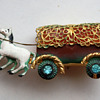 Interesting horse carriage pin