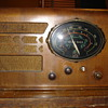 Antique Delco wood radio