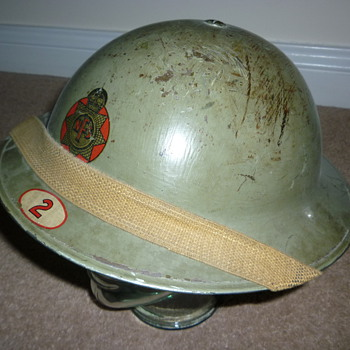 British WWII National Fire Service Helmet