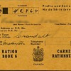 Canadian ration book WW II
