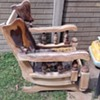 antique ball and claw rocking chair.