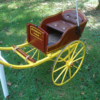restored childs goat cart - Toys