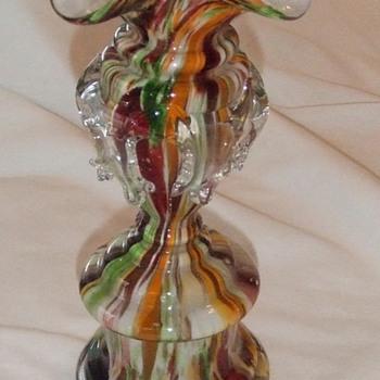 Welz Spatter, Ruffled Trophy vase - Art Glass