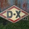 Vintage D-X Oil Sign