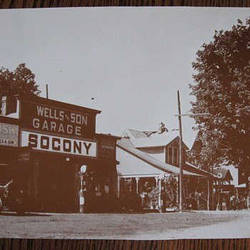 Old Socony gas station photo copy - Petroliana
