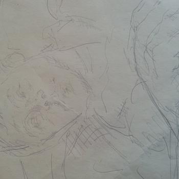 Original Picasso signed Sketch, dated 1953. - Fine Art