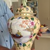 Oriental Ginger Jar with Jade Figure on Lid