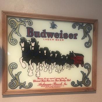 Budweiser glass picture.  - Breweriana