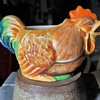 Rooster Pitcher - Japanese Majolica?