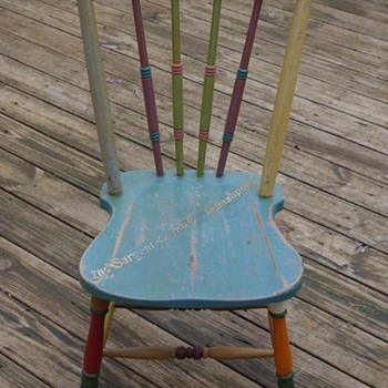 SARGENT Floor & Furniture Enamel color display chair - Advertising