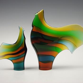 Exbor ~ Birds of a Feather.... - Art Glass