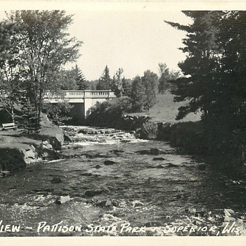 1940's Postcard Pattison State Park....Then and Now - Postcards