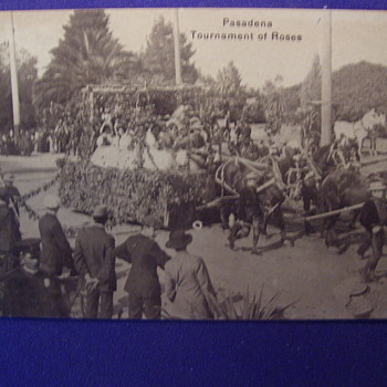 PASADENA ROSE BOWL PARADE  1908 - Photographs