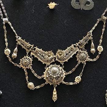 Ornate Costume Bib? Necklace - Costume Jewelry