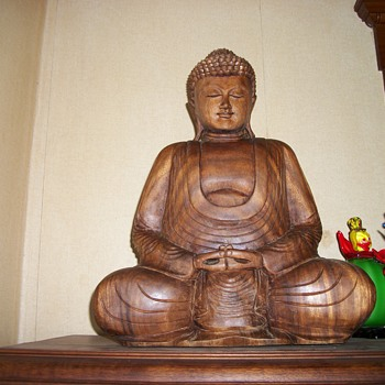 Wood carved Buddha - Asian