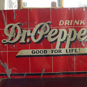 Dr. Pepper...Tin Sign...Springfield, Ohio...1936 - Signs