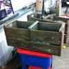 Old orange crates