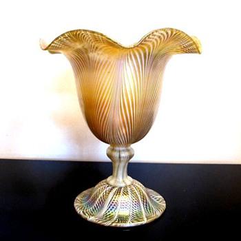 Quezal Floriform Vase c.1910