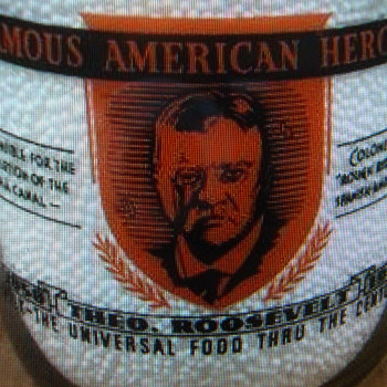 "IOWANA DAIRY..""THEODORE ROOSEVELT"" FAMOUS AMERICAN HEROES SERIES....... - Bottles"