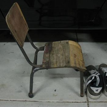 an old kids school chair - Furniture