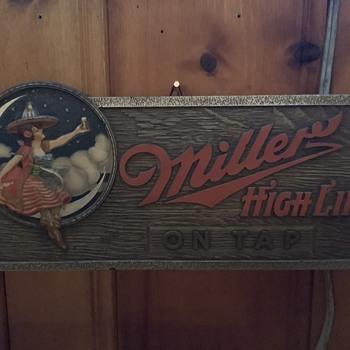 Vintage Miller High Life Composite Sign - Breweriana