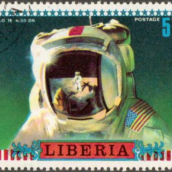"1972 - Liberia - ""Astronaut"" Postage Stamp - Stamps"