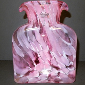 Blenko limited edition #384 water bottle in Cherry Blossom - Art Glass