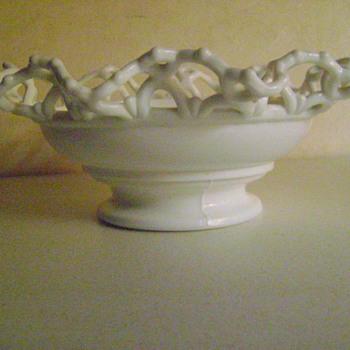 Milk Glass Bowl - Glassware