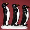 Cast Iron Waddle Of Penguins Doorstop
