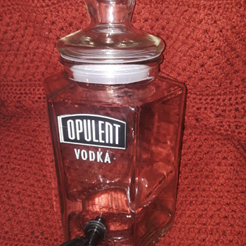 large glass OPULENT VODKA drink dispenser - Advertising
