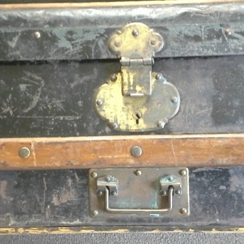 My Ten Dollar Antique Trunk What Can you Tell Me - Furniture