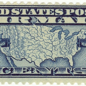 Biplane air mail stamps - 1926 and 1927 - Stamps
