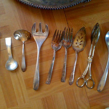 2 Sterling Silver Platters and some flatware I have - Silver